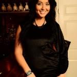 Women's top - black satin