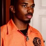 Men's orange gym shirt