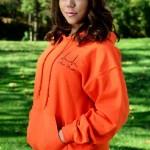 Women's orange sweatshirt